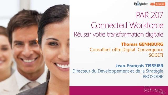 """Réussir votre transformation digitale grâce à """"Connected Workforce"""" de SOGETI"""