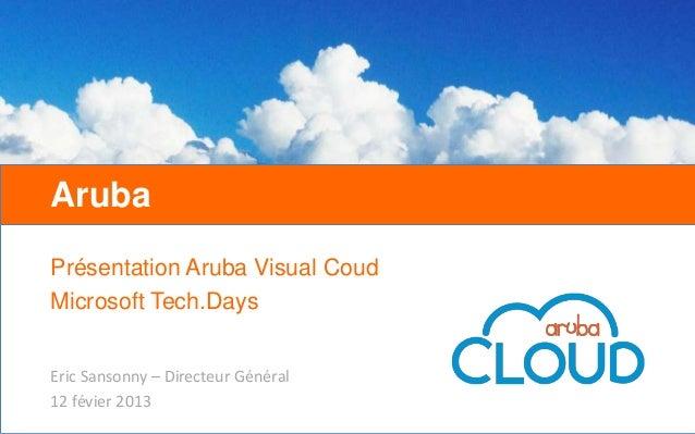 1h chrono pour créer votre infrastructure virtuelle avec l'interface Visual Cloud d'ArubaCloud