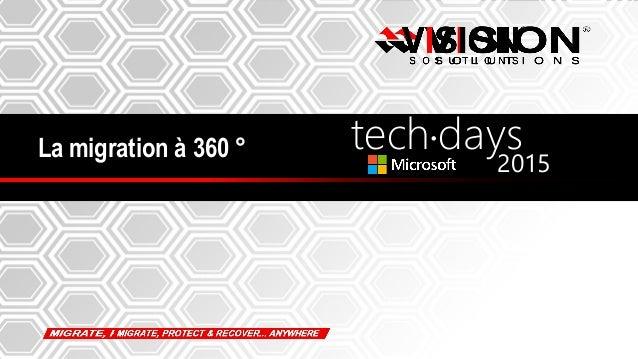 1 La migration à 360 ° tech days• 2015