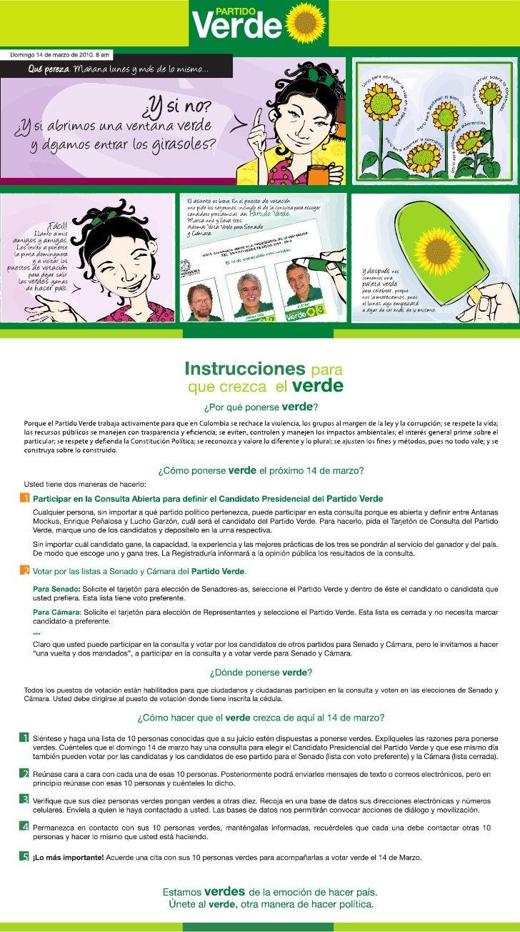 Como ponerse verde el próximo 14 de marzo