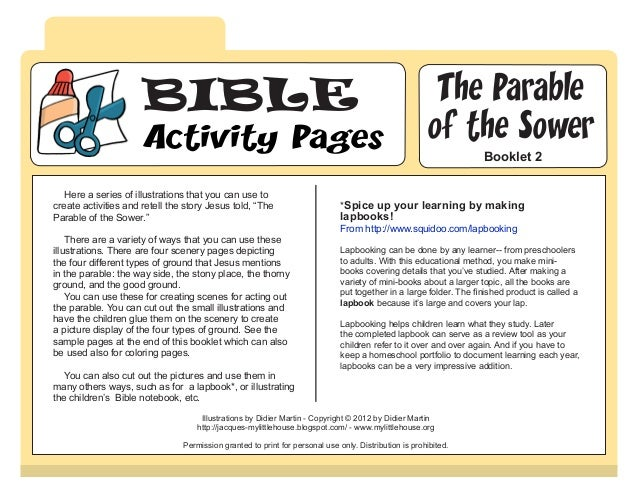 BIBLE                                                                             The Parable                     Activity...