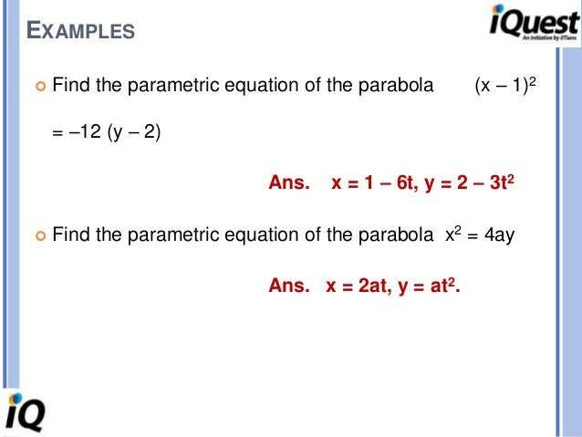 how to find the equation of a parabola