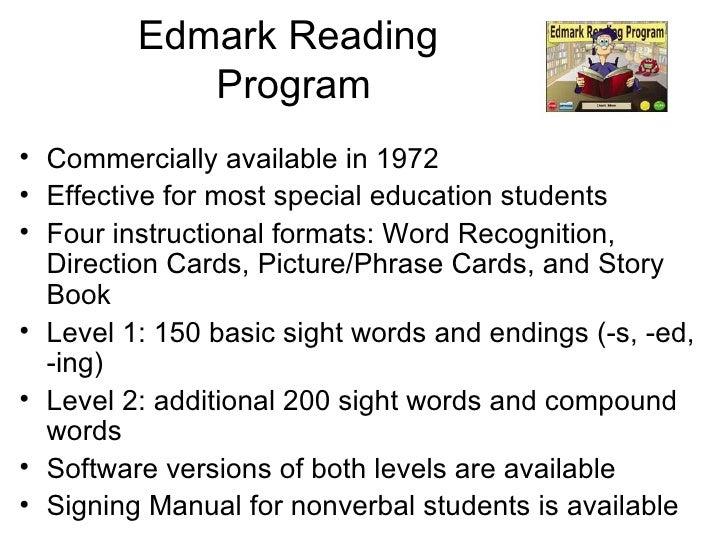 Edmark Reading Program Software Levels 1 2
