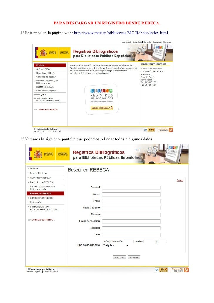 Para Descargar Un Registro Desde Rebeca A Abies
