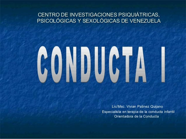 C.I.P.P.S.V. Maestria Online en Ciencias.Mencion: Orientacion de la Conducta. Asignatura Conducta I. Unidad II. Paradigma Clásico