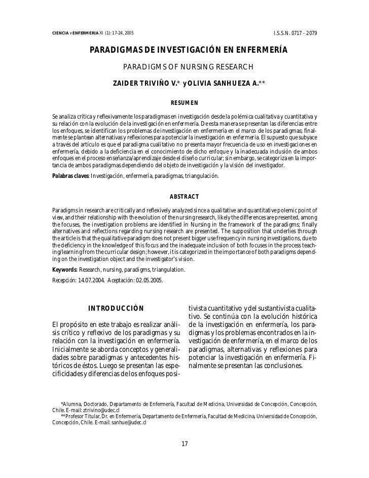 CIENCIA Y ENFERMERIA XI (1): 17-24, 2005                                                          I.S.S.N. 0717 - 2079    ...