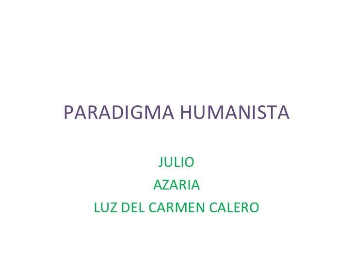 Paradigma humanista (1)