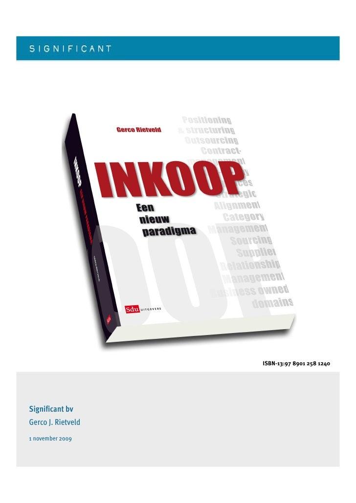 ISBN-13:97 8901 258 1240     Significant bv Gerco J. Rietveld 1 november 2009