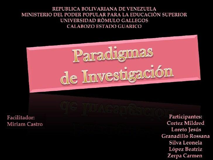 REPUBLICA BOLIVARIANA DE VENEZUELA<br />MINISTERIO DEL PODER POPULAR PARA LA EDUCACIÒN SUPERIOR<br />UNIVERSIDAD RÒMULO GA...