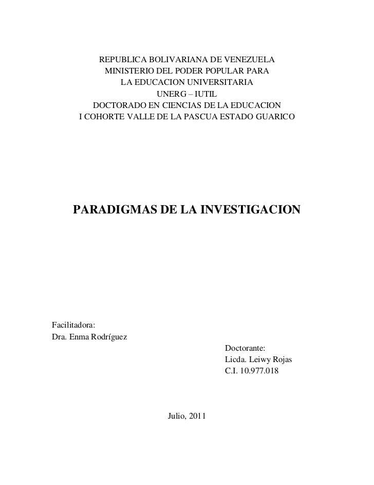 REPUBLICA BOLIVARIANA DE VENEZUELA<br />MINISTERIO DEL PODER POPULAR PARA<br />LA EDUCACION UNIVERSITARIA<br />UNERG – IUT...
