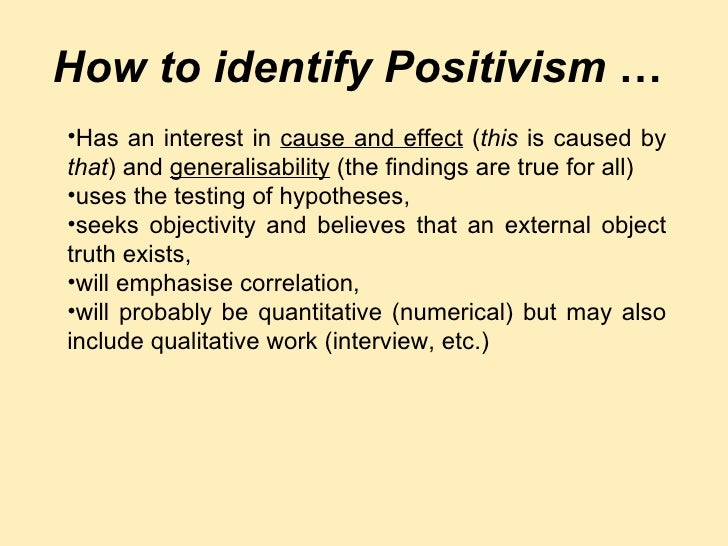 Positivist research approach