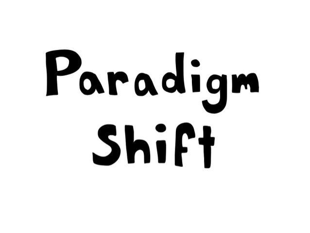 Paradigm shift comic strip