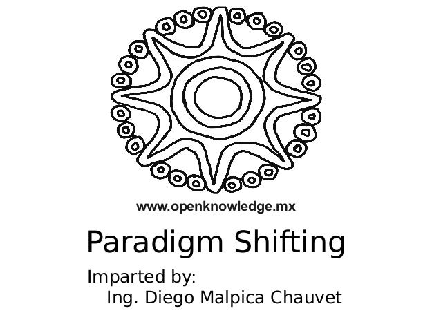 www.openknowledge.mx  Paradigm Shifting Imparted by: Ing. Diego Malpica Chauvet