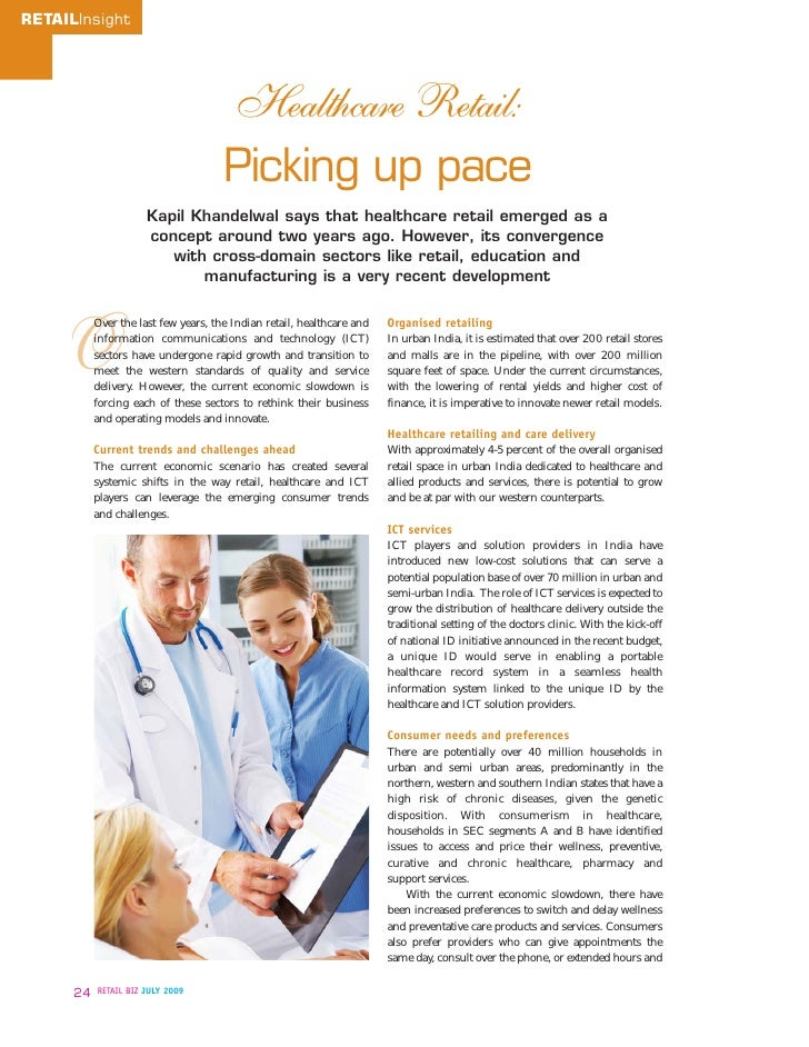 Paradigm Shifts In Healthcare Retailing Biz Models