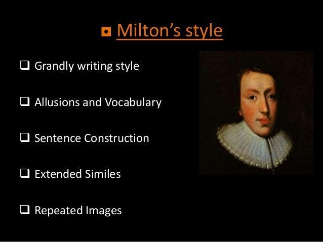 John Milton writing style