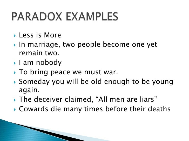 Pics For > Paradox Examples In Literature