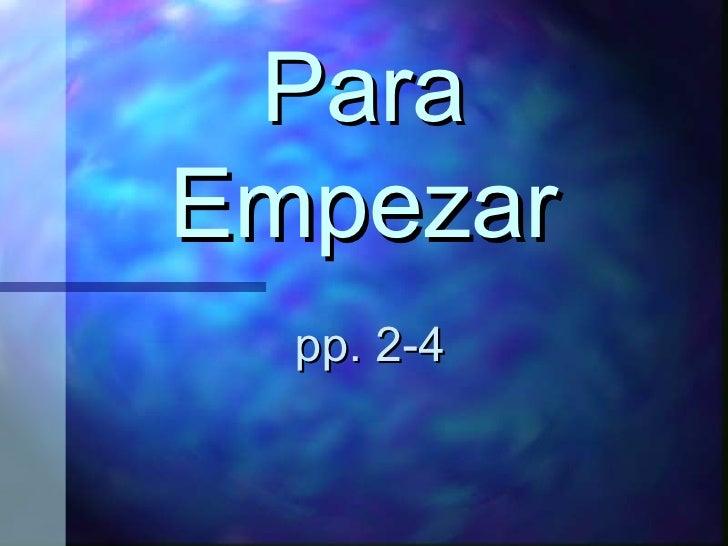 ParaEmpezarGreetings
