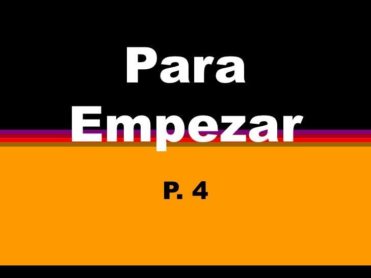 ParaEmpezarHowAreYou