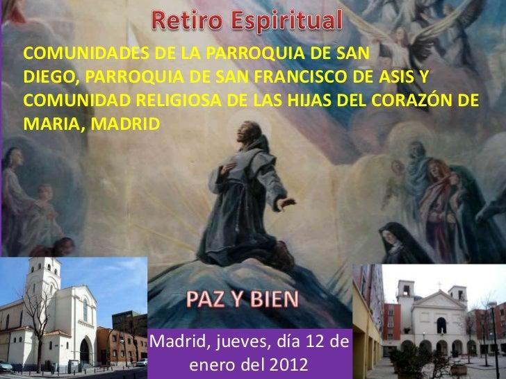 COMUNIDADES DE LA PARROQUIA DE SANDIEGO, PARROQUIA DE SAN FRANCISCO DE ASIS YCOMUNIDAD RELIGIOSA DE LAS HIJAS DEL CORAZÓN ...