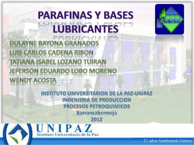 DefiniciónLa parafina es un subproducto incoloro einodoro de la industria petroquímica sederrite fácilmente y es muy fácil...
