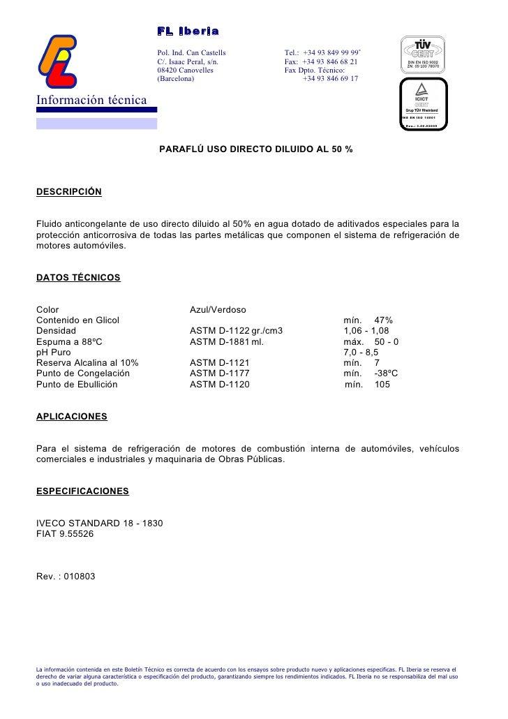 FL Iberia                                              Pol. Ind. Can Castells                           Tel.: +34 93 849 9...