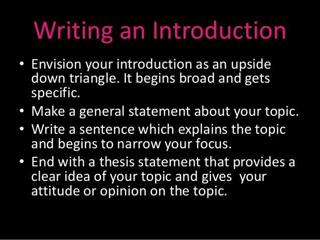 triangle essay format