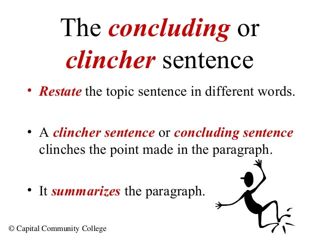 Examples Of Clinchers In Essays
