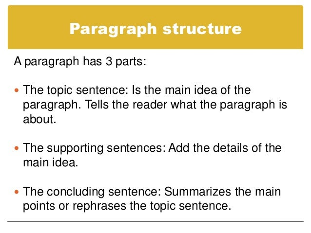 com 150 week 5 topic sentences and paragraphs Every paragraph should begin with a topic write one topic sentence for your week nine essay a body in which the paragraphs begin with topic sentences.