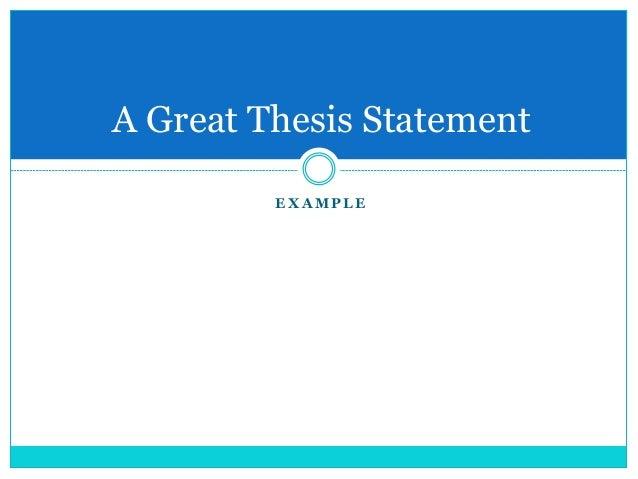 Good thesis statement economy