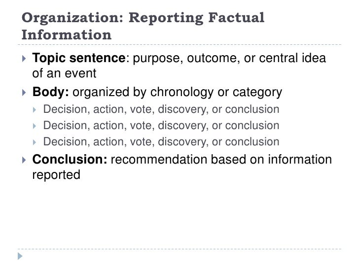 Examples of science reports