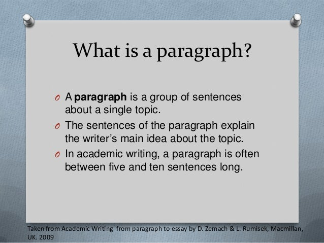 academic writing from paragraph to essay zemach 52 paragraph heading and numbering   zemach, d & rumisek, l 2005  academic writing from paragraph to essay oxford: macmillan trzeciak, j 2003.