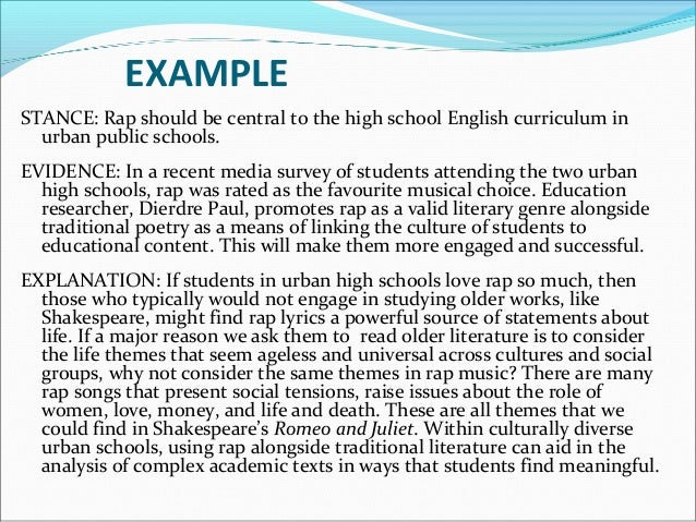 Persuasive essay example high school