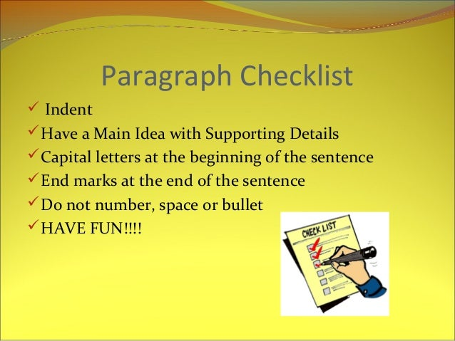 Technical paragraph writing