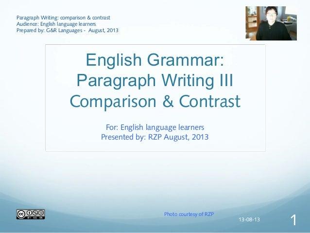5 paragraph comparison and contrast essay