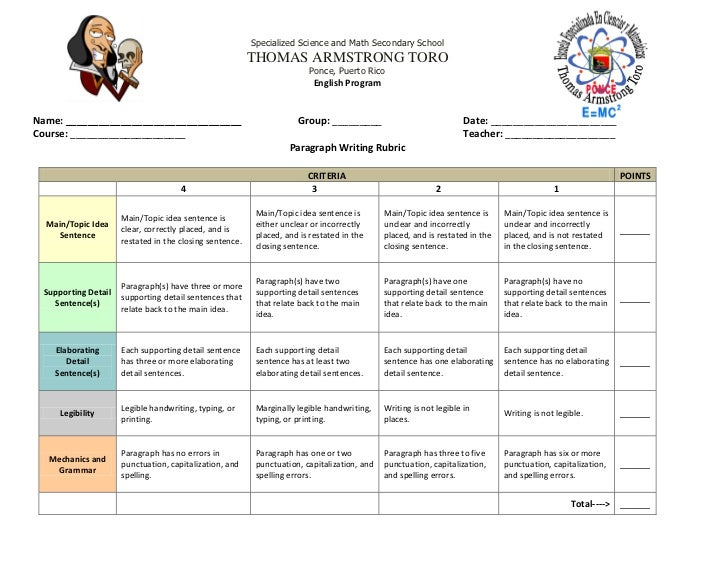 Case study rubric psychology