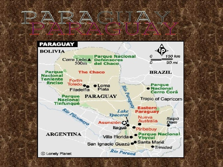 •   Paraguay is a very pretty     country. It has palm trees,     forests, flowers, and a     waterfall. In the east there...