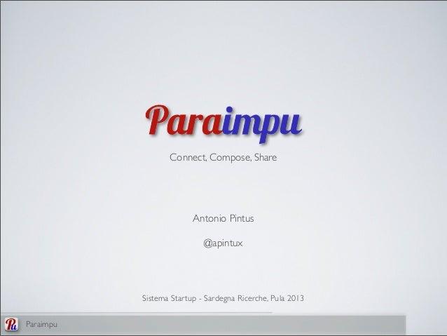 Presentazione di Paraimpu - Sistema Startup 2013