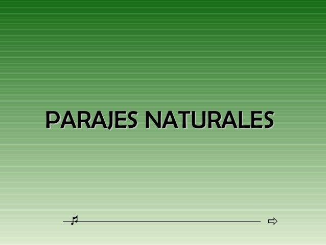 PARAJES NATURALES