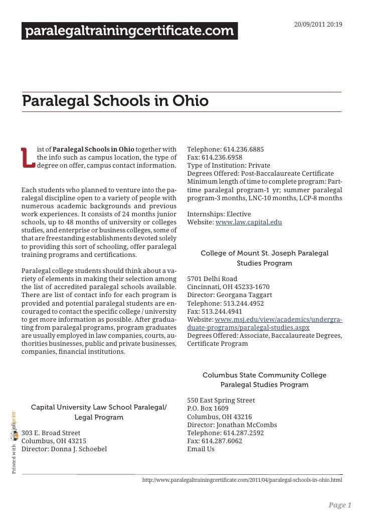 20/09/2011 20:19                 paralegaltrainingcertificate.com                Paralegal Schools in Ohio                ...