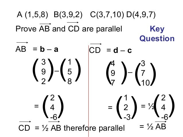 Parallel vectors calculus 3