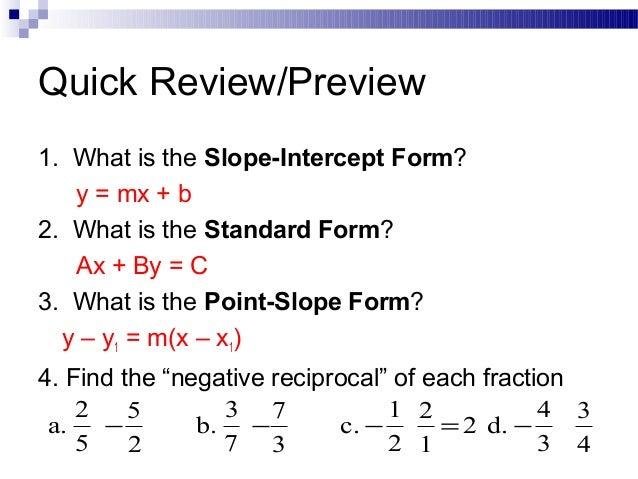 Image Gallery of Slope Intercept Formula Definition