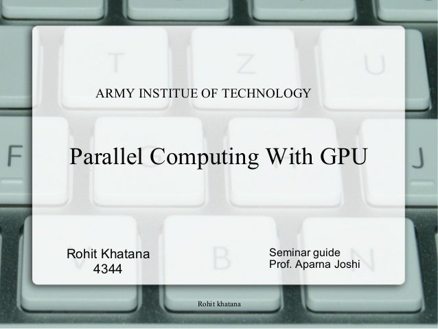 Parallel computing with Gpu