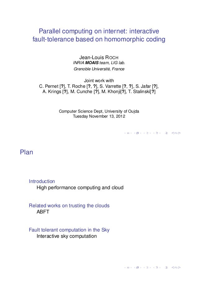 Parallel computing on internet
