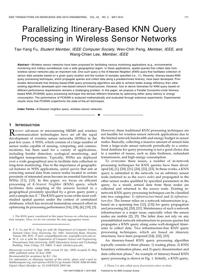 IEEE TRANSACTIONS ON KNOWLEDGE AND DATA ENGINEERING,                    VOL. 22,     NO. 5,    MAY 2010                   ...