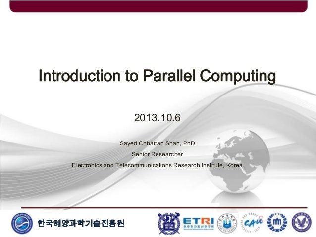 Introduction to Parallel and Distributed Computing
