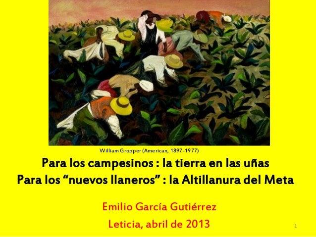 William Gropper (American, 1897-1977)Emilio García GutiérrezLeticia, abril de 2013Para los campesinos : la tierra en las u...