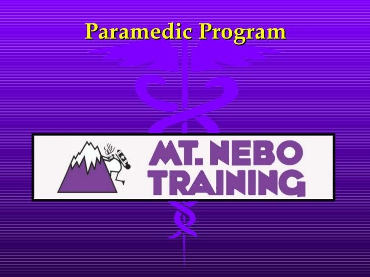 Paramedic Program Pg