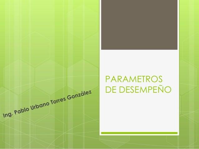 PARAMETROS DE DESEMPEÑO