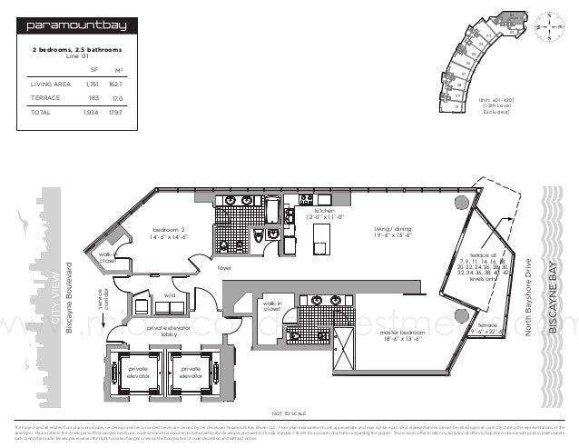 01  03  02  04  2 bedrooms, 2.5 bathrooms Line 01  05 06  SF LIVING AREA TERRACE TOTAL  M2  1,751  162.7  183  17.0  1,934...