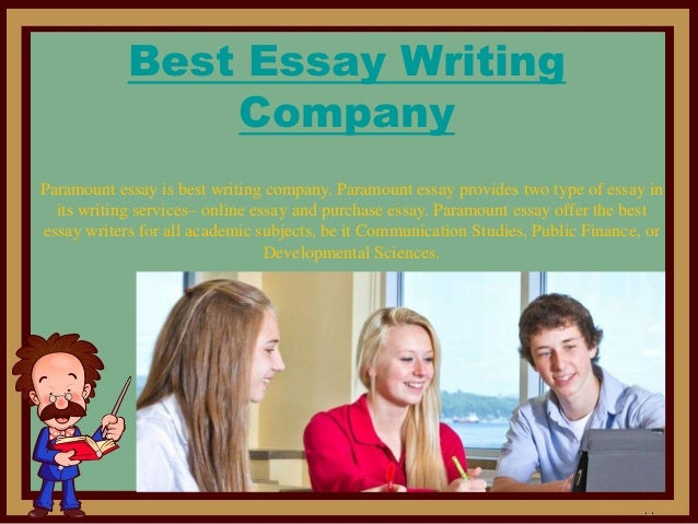 Essay writing companies